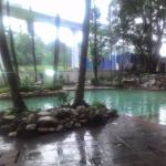 Pool is big but not so clean. Raining season