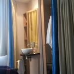 La salle de bains intégrée à la chambre, ça....ce n'est pas ce que je préfère....