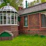 """Her"" sleeping porch and solarium."