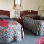The beds had good mattresses. Clean room. Microwave & Refrigerator in room. Also Free WiFi.