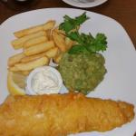 Fish and chips with home made Tartar sauce