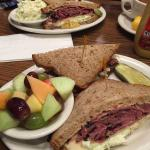 Pastrami sandwiches from Greenblatt's Deli