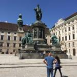 Reichskanzleitrakt (ala della cancelleria imperiale) - Statua dell'imperatore France