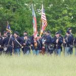 The 54th PVI Reenactors Read For Battle