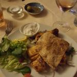 Shish Taouk (grilled chicken with a garlic sauce) main course
