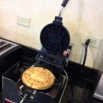 Make your own waffles at breakfast! Delicious!