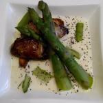 Foie gras poêle aux asperges