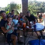 Families enjoying breakfast