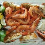 Seafood tray from the bridge seafoods.