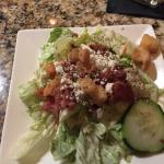 house salad w Parmesan vinegrette