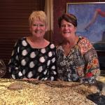 Sisters enjoying dinner @ Sybill's
