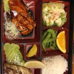 Dragon roll, salmon and Saba lunch box