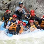 One of the troop rafts