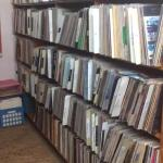 hundreds and hundreds more vinyl which is not displayed in the front portion of the shop.