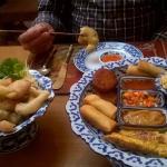 mixed starter and tempura veges - yum