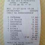 Tiquet comida 5 personas (1 solo postre): menos de 15€/persona