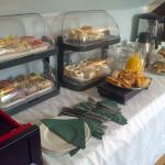 The terrific buffet served upstairs for brunch, lunch afternoon tea.