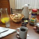 Desayuno en el hotel, en el comedor