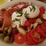 Burrata appetizer -- to die for . . .