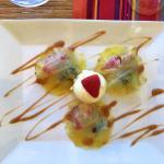 Dessert, Ravioles d'ananas aux fruits rouges