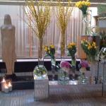 Lobby with fresh flowers