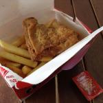 Chicken and chips.