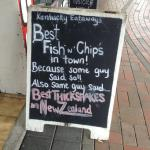 Check the chalkboard specials.