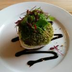 """Mediterranean Roasted Veg with Goat's Cheese in a """"Herb Crumb""""! - totally delicious"""
