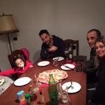 pizza em familia...