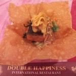 Foto salah satu menu Double Happiness, kombinasi tim money bag dgn taiwan tofu jamur lingtzi & e