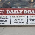 Daily specials this week.