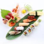 Delightful assorted sushi, sashimi, and maki