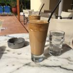 Nescafe Frappe by the pool