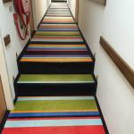 I liked the carpet, but it was hard to see the steps in the hallway