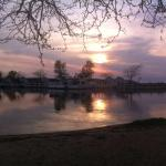 Coucher de soleil sur le Lake Michigan