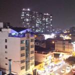 Vista nocturna desde el Restaurante piso 7º