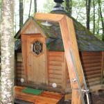 Sauna et douche exterieure