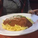 Delicious spaghetti bolognese!