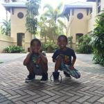 Even my young boys appreciate the beauty of the resort grounds.