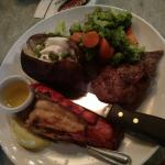 Surf and turf steak and lobster special