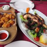 shrimp and grilled octopus