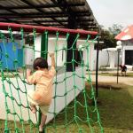 Pojok outbound di Taman Pandan Alas