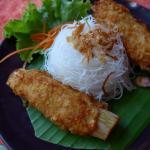 Shrimp Paste Wrapped Sugar Cane @ Dinphow Thai-Viet Cuisine