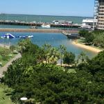 Taken from Lifts located next to hotel, Lagoon and Wharf