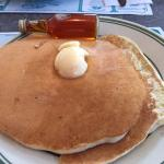 Sizable pancakes with real N.H. maple syrup - so good!