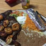 Grilled Ribeye & Shrimp