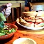 Club sandwich and salad done right!