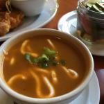 Soup de jour (spicy tomato soup)