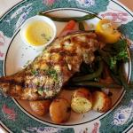 Grilled Redfish with Potatoes and Green Beans
