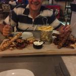 The amazing Greek plate at Pefkos village resort